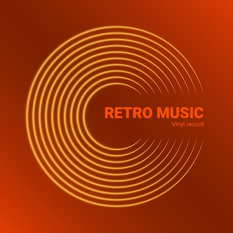 Vinyl muziekplaat. ontwerp van retro audioschijf. vintage grammofoonschijf met omslagmodel. vector illustratie.