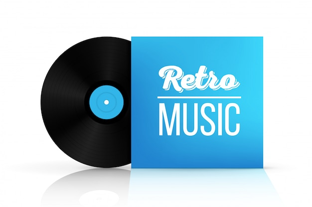 Vinyl opnameschijf in papieren kist