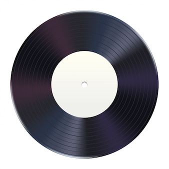Vinyl plaat wit