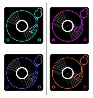 Vinyl record disc plat eenvoudig concept vectorillustratie