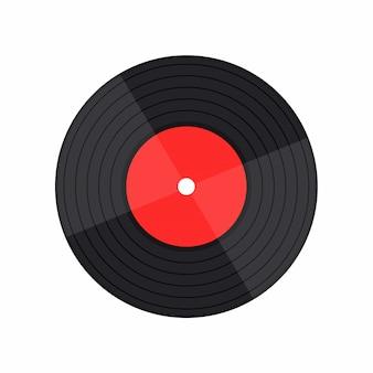 Vinyl record muziek vector met vinyl record woord