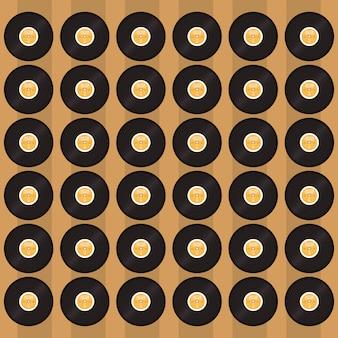 Vinyl record patroon achtergrondafbeelding
