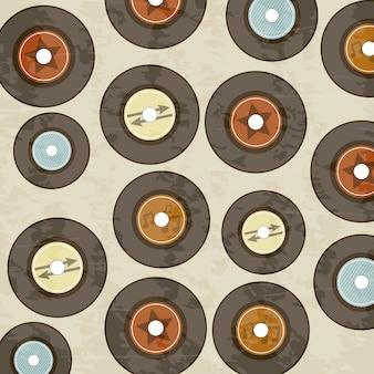Vinyl record pictogram over crème achtergrond