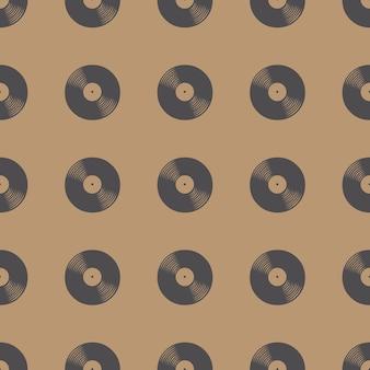 Vinyl records patroon, muziek illustratie. creatieve en luxe hoes