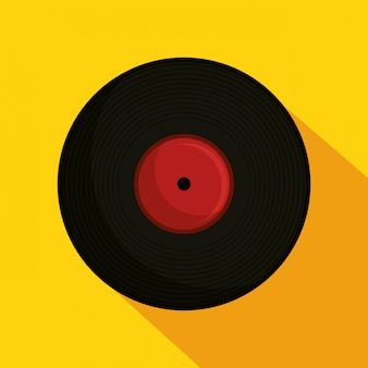 Vinyl retro muziek illustratie