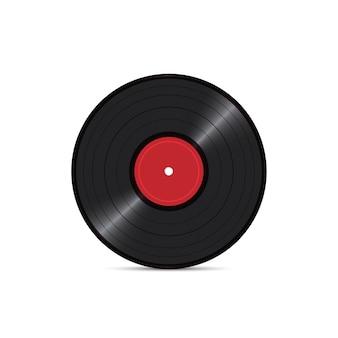 Vinylschijfverslag op witte achtergrond wordt geïsoleerd die