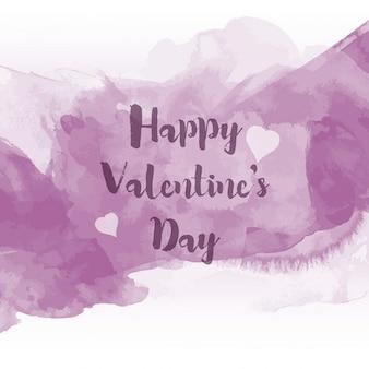 Violet aquarel valentine achtergrond van de dag