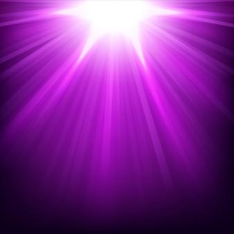 Violet lichteffect verlicht