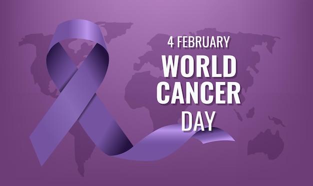 Violet lint van de wereldkankerdag