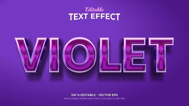 Violette 3d-stijl bewerkbare teksteffecten