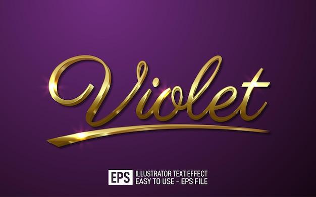 Violette 3d-tekst bewerkbare stijleffectsjabloon
