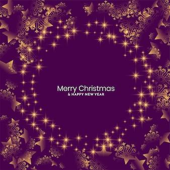 Violette kleur glanzende merry christmas festival achtergrond
