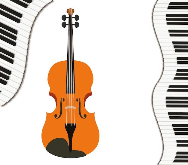 Viool muziekinstrument patroon