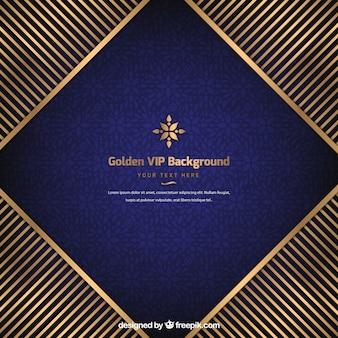 Vip achtergrond met gouden strepen