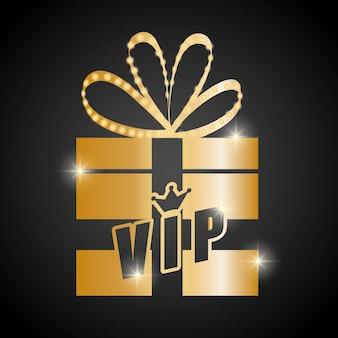 Vip-concept met pictogram ontwerp