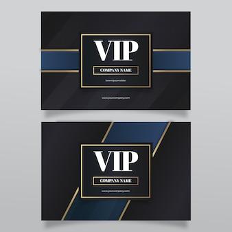 Vip-kaart met kleurovergang met gouden details
