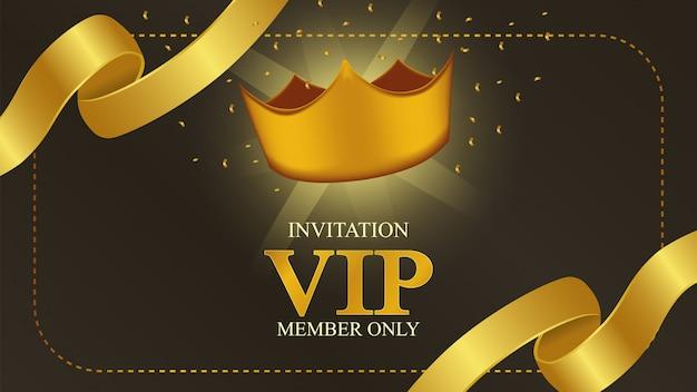Vip-lidmaatschapskaart met gouden kroon