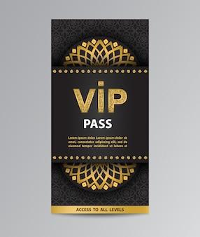 Vip pass flyer-sjabloon