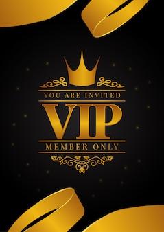 Vip-poster met gouden kroon
