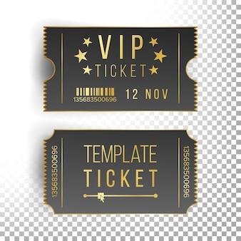 Vip-ticket sjabloon set