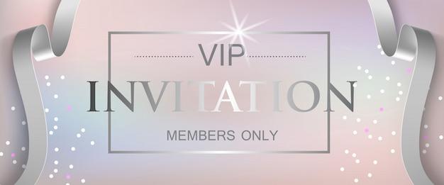 Vip-uitnodigingsleden alleen belettering