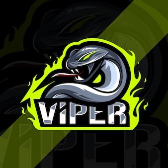 Viper mascotte esport embleemontwerp
