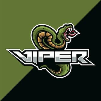 Viper snake mascotte esport logo ontwerp