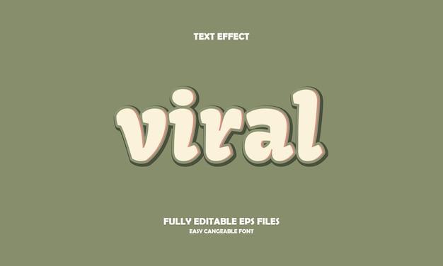 Viraal teksteffect