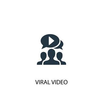 Viraal videopictogram. eenvoudige elementenillustratie. virale video concept symbool ontwerp. kan gebruikt worden voor web en mobiel.