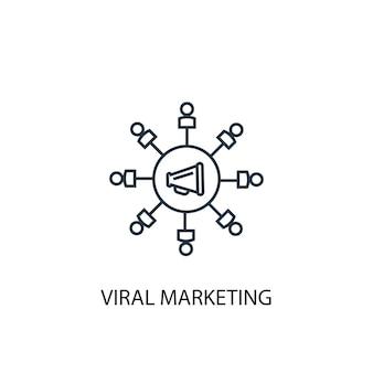 Virale marketing concept lijn pictogram. eenvoudige elementenillustratie. virale marketing concept schets symbool ontwerp. kan worden gebruikt voor web- en mobiele ui/ux