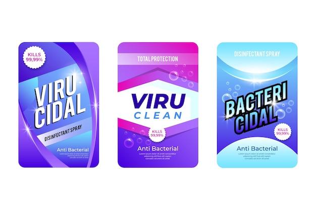 Viricide en bacteriedodende reinigeretiketten