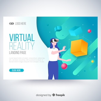 Virtual reality bestemmingspagina sjabloon