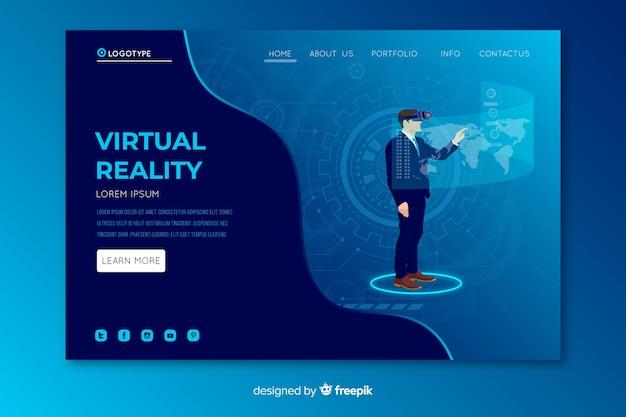 Virtual reality-bestemmingspagina