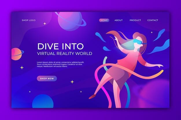 Virtual reality-concept - bestemmingspagina