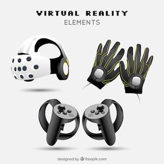 Virtual reality elementen in realistische stijl