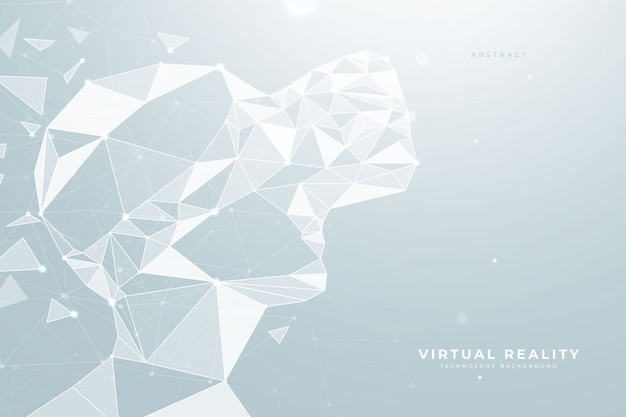Virtual reality headset low poly achtergrond
