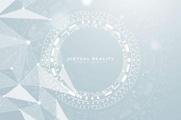 Virtual reality low poly hud