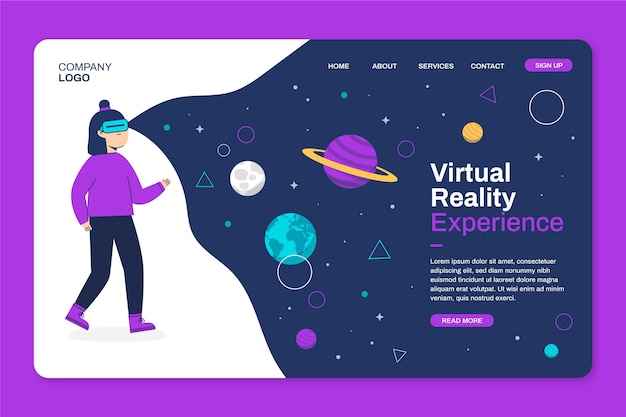 Virtual reality-startpagina