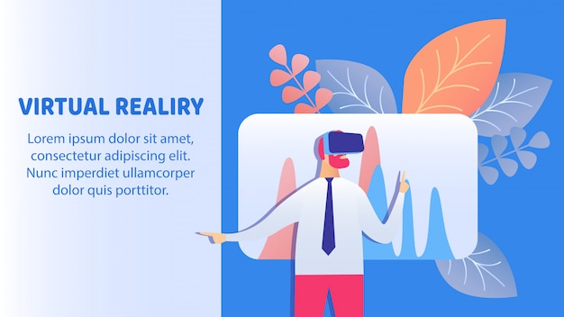 Virtual reality-technologie banner vector sjabloon