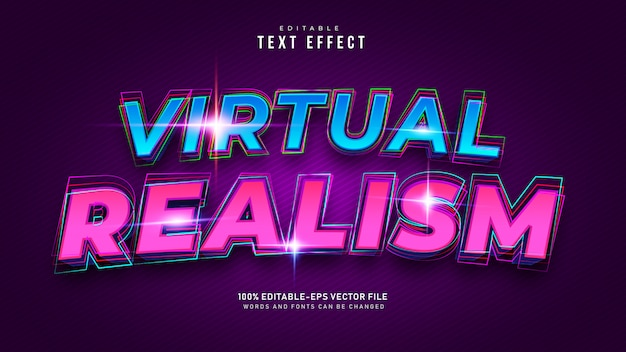 Virtual reality-teksteffect