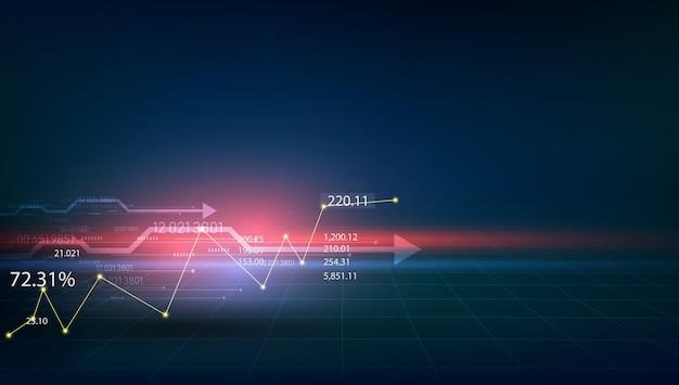Virtueel hologram van statistieken