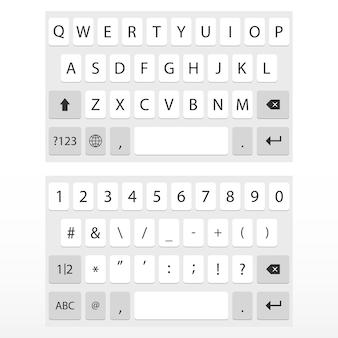 Virtueel toetsenbord voor mobiele telefoon