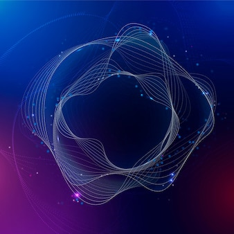 Virtuele assistent cirkel achtergrond vector paarse gradiënt disruptieve technologie