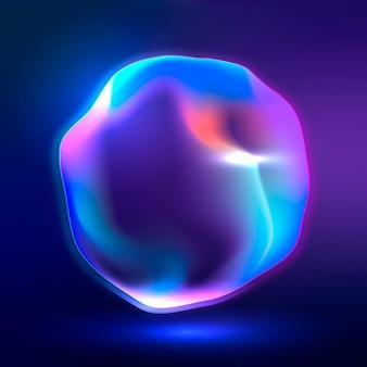 Virtuele assistent technologie cirkel vectorafbeelding in neon roze