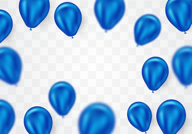 Virtuele blauwe heliumballon vector afbeelding