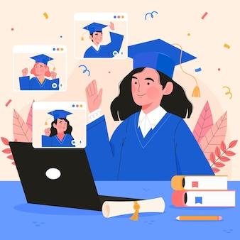 Virtuele diploma-uitreiking