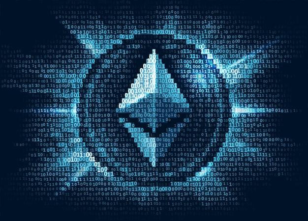 Virtuele etherische digitale valuta bestaat uit binaire code