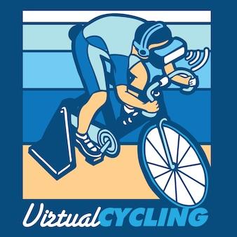 Virtuele fietsen illustratie