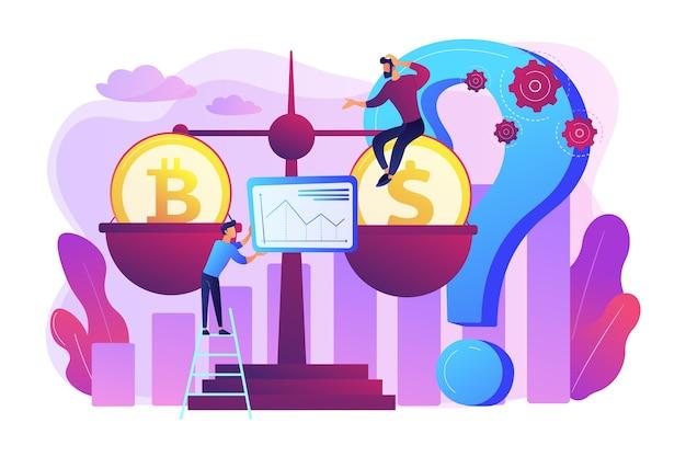 Virtuele gelduitwisseling, analyse van marktstatistieken. bitcoin-prijsvoorspelling, cryptocurrency-prijsvoorspelling, blockchain investeer winstgevendheid concept.