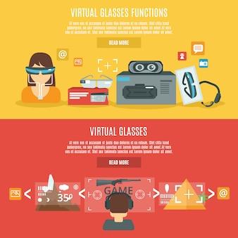 Virtuele glazenbanner